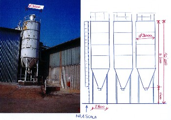 SILOS DIAMETRO 3.000 mm CAPACITA' 45 Mc - USATO